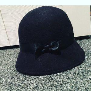 Gymboree Nwt bucket black hat bow Janie jack